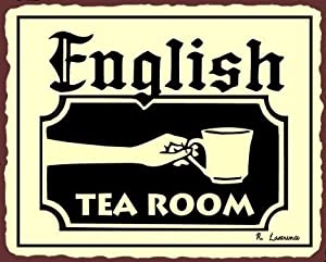 English Tea Room Vintage Metal Art Coffee Shop Diner Retro Tin Sign
