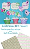 Pink and Green DIY Centerpiece for Mothers Day - Designer Paper Included