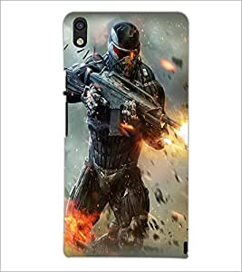 PRINTSWAG SOLDIER Designer Back Cover Case for HUAWEI P6