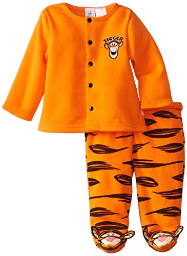 Disney Baby Boys Newborn Tigger Jacket And Footed Pant Set, Orange, 3-6 Months front-600907