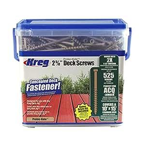 """Kreg #8 - 2-5/8"""" Protec-Kote™ Deck Screws (525 per Pack)"""