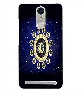 PrintDhaba Zodiac Wheel D-4813 Back Case Cover for LENOVO K5 NOTE (Multi-Coloured)