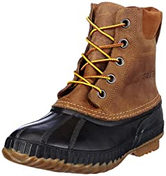Sorel Men\'s Cheyanne Lace Full Grain Rain Boot,Chipmunk/Black,8 M US