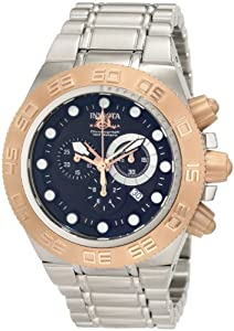 Invicta Men's 1529 Subaqua Sport Chronograph Black Dial Stainless Steel Watch