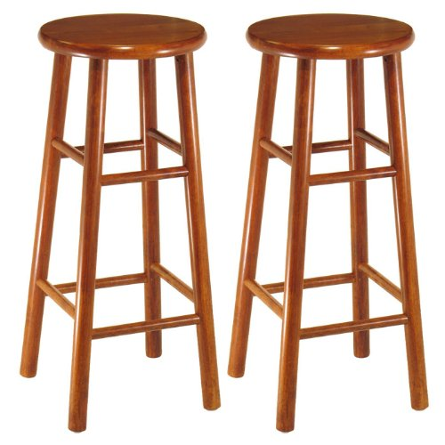 Set of 2, Beveled Seat, 30'' Stool, Assembled Set of 2, Beve