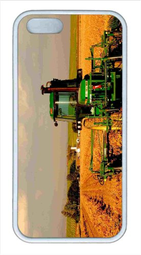 Customized Protector Case For Iphone 5S Tpu White Case Tractor In Field