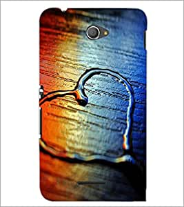 PrintDhaba Heart D-2069 Back Case Cover for SONY XPERIA E4 (Multi-Coloured)
