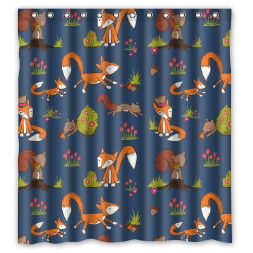 Fox and Squirrels Shower Curtain