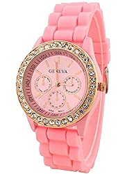 Geneva Analogue Pink Dial Womens Watch - g8253_D