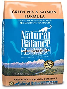 Natural Balance Dry Cat Food, Limited Ingredient Pea and Salmon Recipe, 10 Pound Bag