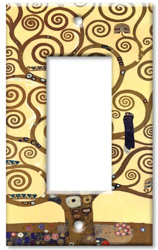 Klimt - The Tree of Life Switch Plate - Single Rocker