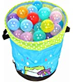 "Non-Toxic 200 ""Phthalates Free"" Non-Recycled Quality Crush Proof 10 Colors Invisiball w/ 1 FREE Wonder Hamper: Mr. Organize Frog"