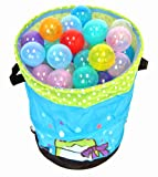 "200 ""Phthalates Free"" 10 Colors Invisiball w/ 2 Storage Totes and 1 FREE Wonder Hamper: Mr. Organize Frog"