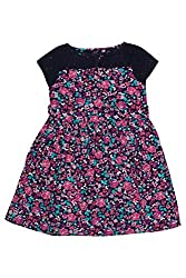 Chalk by Pantaloons Girl's Skater Dress (205000005655227, Blue, 4-5 Years)
