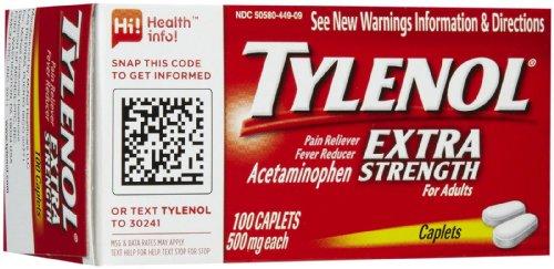 Tylenol Extra Strength Pain Reliever & Fever Reducer Caplets-100 count