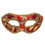 Masquerade Mask Ball Masks Stag Xmas Party Fancy Dress Venetian Eye Mask - red, Standard