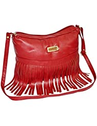 Ladies Maroon Colored Designer Sling Bag By Minar