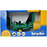 Bruder 02122 Bale Wrapper with Ockery and Black Round Bales