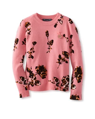 Blumarine Girl's Sweater with Flowers  [Pink]