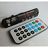 Bluetooth v3.0 + EDR Audio Module MP3 WMA Player MP3 decoder with Board Module w/ TF Card Slot / USB 3.0 Port / FM / remote display - Black (12V) (Color: black)