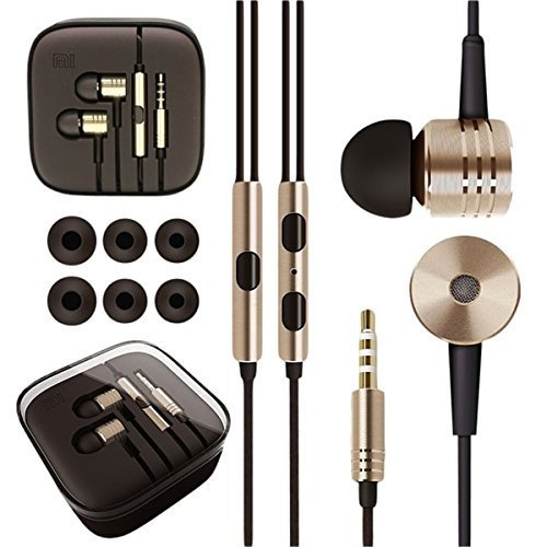 PRAVARA-Piston-Design-Earphone-Handsfree-for-MI-Samsung-HTC-Apple-and-all-other-Smartphones-With-free-3-extra-pair-of-ear-buds-Golden