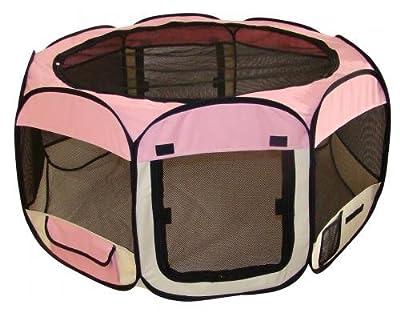 Best Pet Folding Play Pen - Medium - Pink