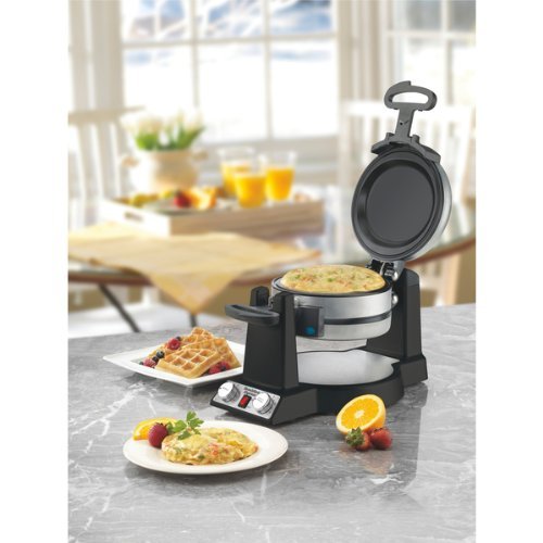 Great Features Of Professional Belgian Waffle/Omelet Maker WOM600BKSA