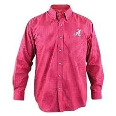 Alabama Crimson Tide Esteem Crimson Buttondown Long Sleeve Shirt by Antigua