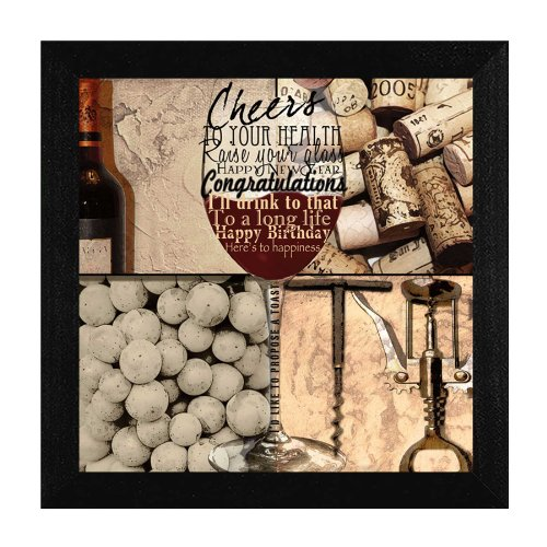 "Trendy Decor 4 U LI1302 RAISE YOUR GLASS, 12""x12"""