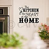 The Kitchen Is The Heart Of The Home wall saying vinyl lettering art decal quote sticker home decal