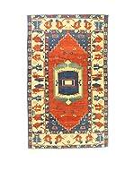 L'Eden del Tappeto Alfombra Konya Indigo Rojo / Azul / Marfil 295  x  178 cm
