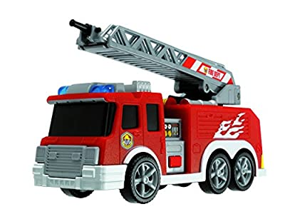 Dickie Toys 203302002 - Action Series Fire Truck, Feuerwehrauto inklusive Batterien, 15 cm