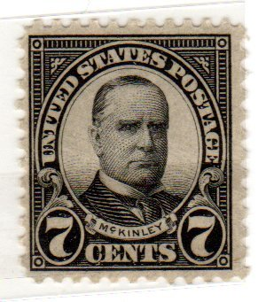 """1922-25 Issue """"McKinley"""" 7 Cents/1923 (Black) Stamp (#559) - 1"""