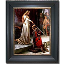 The Accolade by Edmund Leighton Black & Gold Framed Canvas (Ready-to-Hang)
