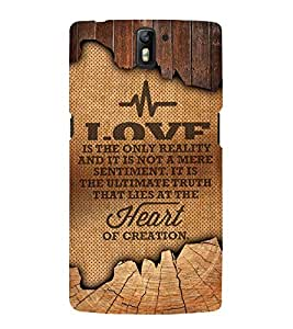 Heart Of Creation Cute Fashion 3D Hard Polycarbonate Designer Back Case Cover for OnePlus One :: One Plus 1 :: 1+1