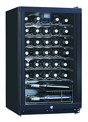 Midea WHS-144W1 35-Bottle Free Standing Wine Cooler Refrigerator, Black (Beverage Refrigerator Bar compare prices)