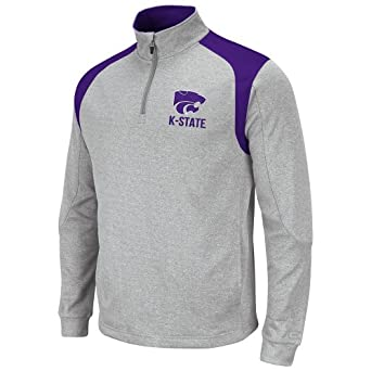 NCAA Kansas State Wildcats Mens Frost 1 4 Zip Fleece Sweatshirt by Colosseum