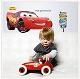 ENFANTS STICKERS MURAUX GRAND VOITURES DISNEY AUTOCOLLANTS FILLES CHAMBRE DE MUR CHAMBRE DECOR Décoration Sticker Adhesif Mural Géant Répositionnable...