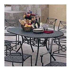 Delphi Round Cast Top Dining Table Cast Top Pattern: Woven Cane, Finish: Hammered White
