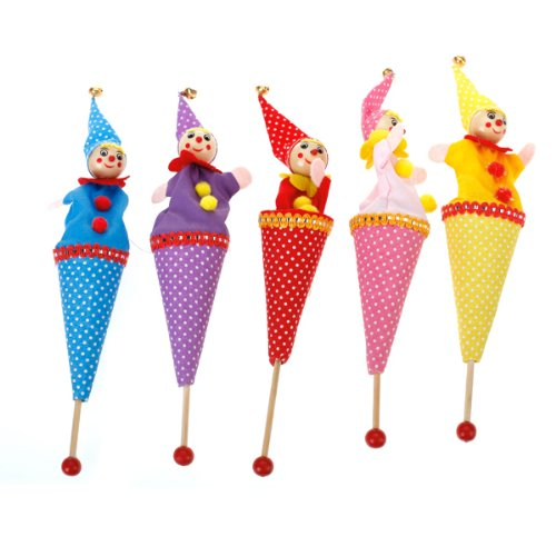 Ttenpuppe-Fingerpuppe-Handpuppe-Puppe-Marionette-Clown-Kinder-Spielzeug