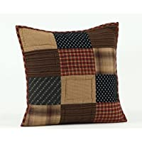 Country Style Navy, Browns, Burgundy Patriotic Pillow Quilted 16x16