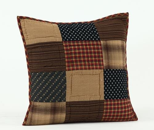 "Patriotic Patch 16"" Quilted Decorative Throw Pillow Cover"