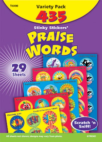 Stinky Stickers Praise Words 435/Pk Jumbo Acid-Free Variety Pk -- Case of 3