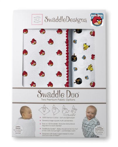 Swaddledesigns Swaddleduo Angry Birds Baby Duo, Red front-47417