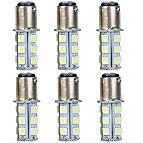 New 1157 18 LED SMD Light Bulbs Interior RV Camper White 6-pack
