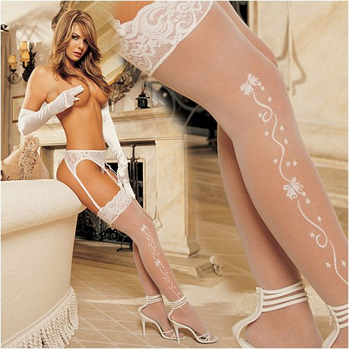 sexy women panties, sexy women bikini,Shirley of Hollywood Wedding Bells Sheer Stockings (90054)