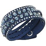 SWAROVSKI (スワロフスキー)スワロフスキー ブレスレット SWAROVSKI 5201118 SLAKE DOT BRACELET ブレスレット・バングル DARK BLUE ダークブルー [並行輸入品]