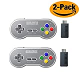 HIOTECH Wireless Controller Bluetooh 8Bitdo SN30 Classic Video Game Joystick Gamepad for Android / iOS / Windows / Mac OS / Wii/Wii U / Switch (2 Pack) (Color)