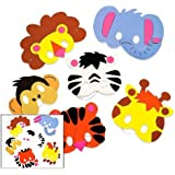 Foam Zoo Animal Masks Craft Kit (Makes 12 Animals)