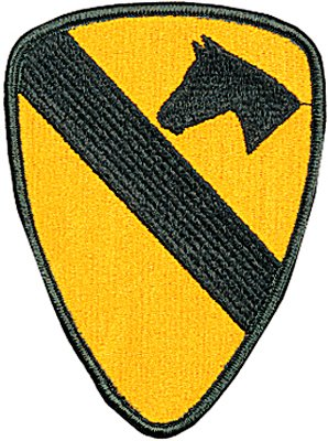 Amazon.com: US Army 1st Cavalry Division Patch: Military Apparel